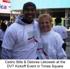Cedric Bills and Delores Lekowski at DVT Kickoff March 7, 2006 in Times Sqaure