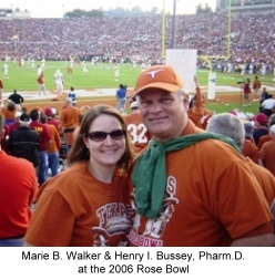 Henry Bussey and Marie Bussey at the 2006 Rose Bowl in Pasadena, CA